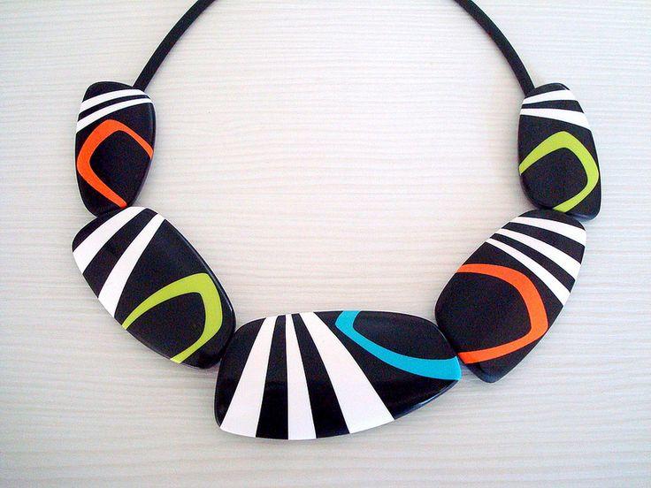 Polymer clay necklace by maio ustvarjaino