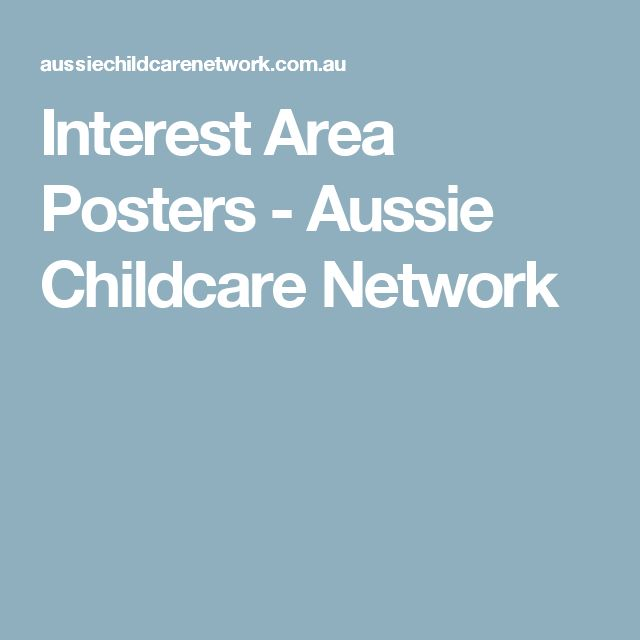 Interest Area Posters - Aussie Childcare Network