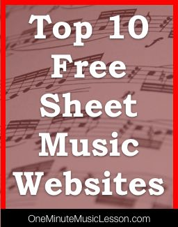 Top 10 Free Sheet Music Websites- some of these are actually really good