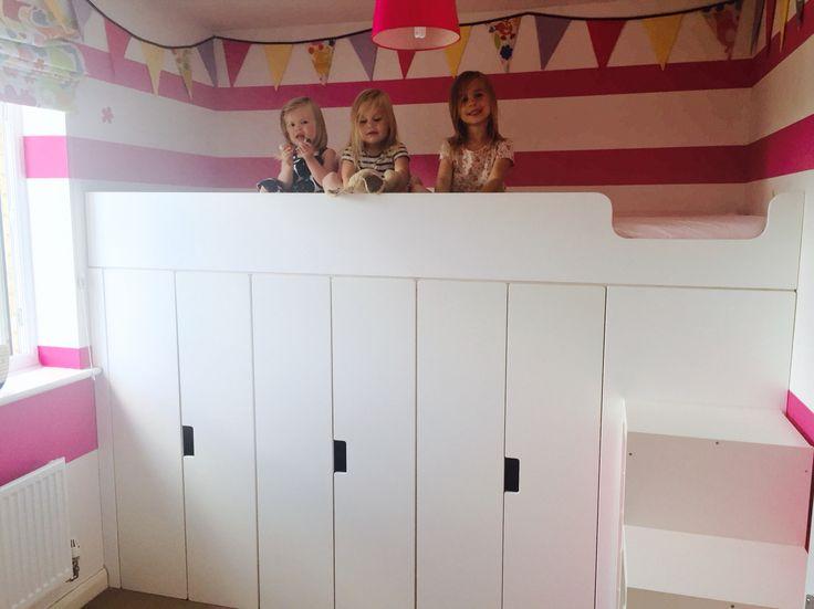 loft bed stuva hack bed with storage ideas for the. Black Bedroom Furniture Sets. Home Design Ideas