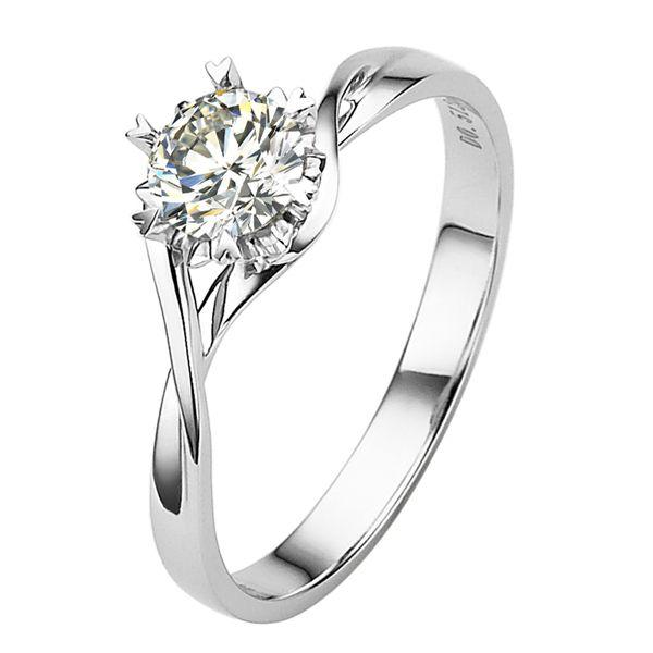 Stacking Modern Wedding Ring Set Simple Diamond His