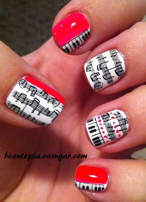 Pretty Gel Nail Polish On Acrylic Nails Small Vintage Nail Art Designs Shaped Nicole Nail Polish Colors Best Products For Nail Fungus Youthful Fun Nail Polish Designs BrownNames Of Opi Nail Polish 1000  Ideas About Music Nail Art On Pinterest | Music Nails ..