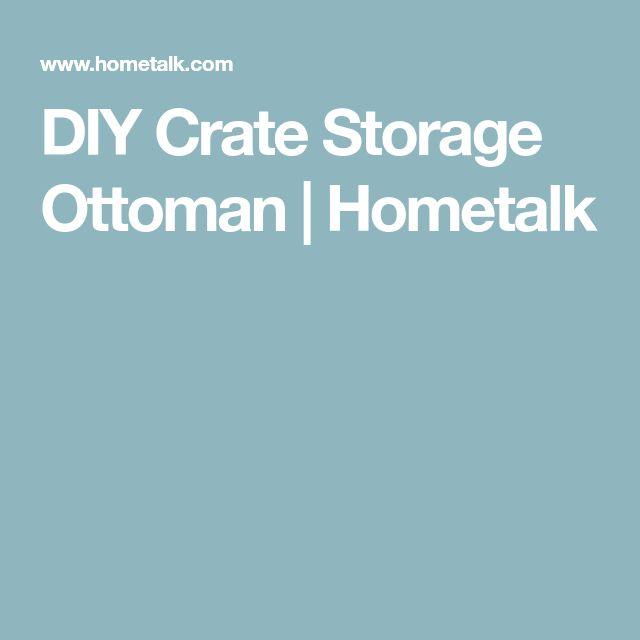 DIY Crate Storage Ottoman | Hometalk