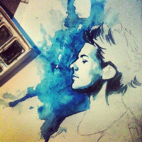 Louis watercolor portrait... Love it.