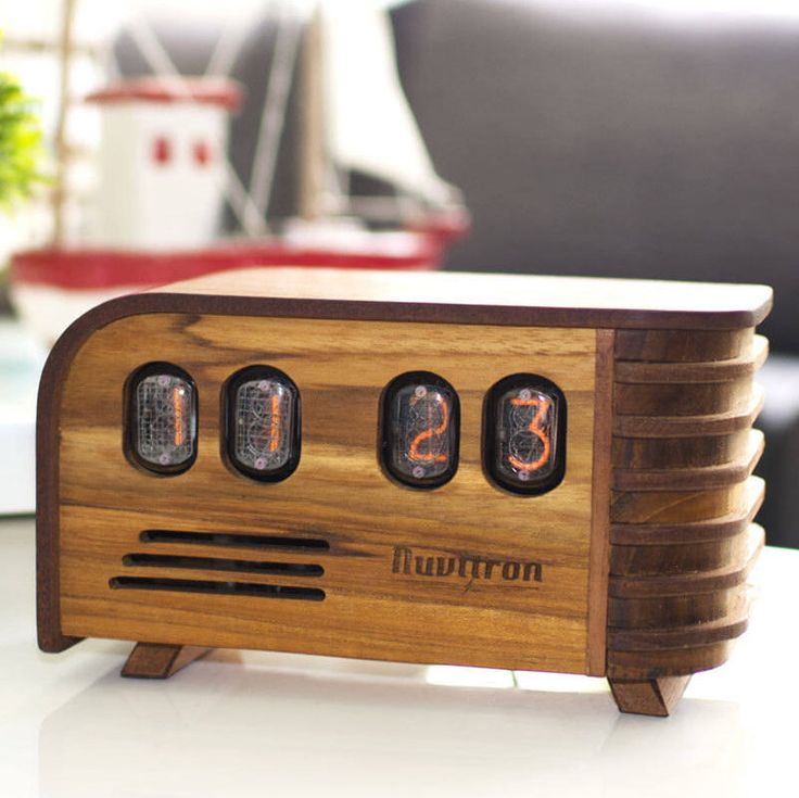 BEST SELLING Vintage Nixie Tube Clock - Art Deco design with Nixie tubes made in the Cold War Era - Nixie Clock handcrafted by Nuvitron by Nuvitron on Etsy https://www.etsy.com/listing/202217293/best-selling-vintage-nixie-tube-clock