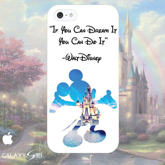 Disney Mickey Mouse Quote Phone Cases - iPhone 4, 5, 5s, 5c, Samsung Galaxy S3, S4, S5