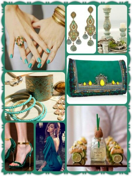 Green/ turquoise