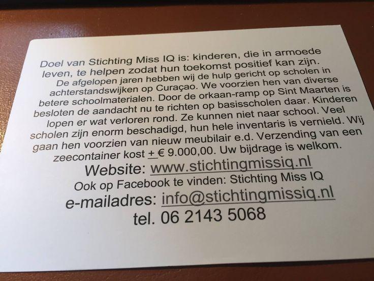 Wij vragen uw hulp.Voor de kinderen in Sintmaarten Een kleine bijdrage(HELP ONS HELPEN) NL53 RABO 0170 2384 66  http://stichtingmissiq.nl/krant-artikel-alkmaarse-courant-donderdag-21-september-2017/
