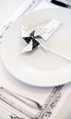 Favor Idea: A pinwheel in your wedding colors. How about attaching a quote from a famous poet, or a fortune, to it also?