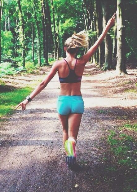 running in the woods | #fitspo
