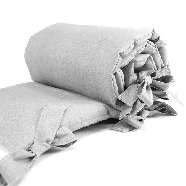 Nestchen für Beistellbett uni grau