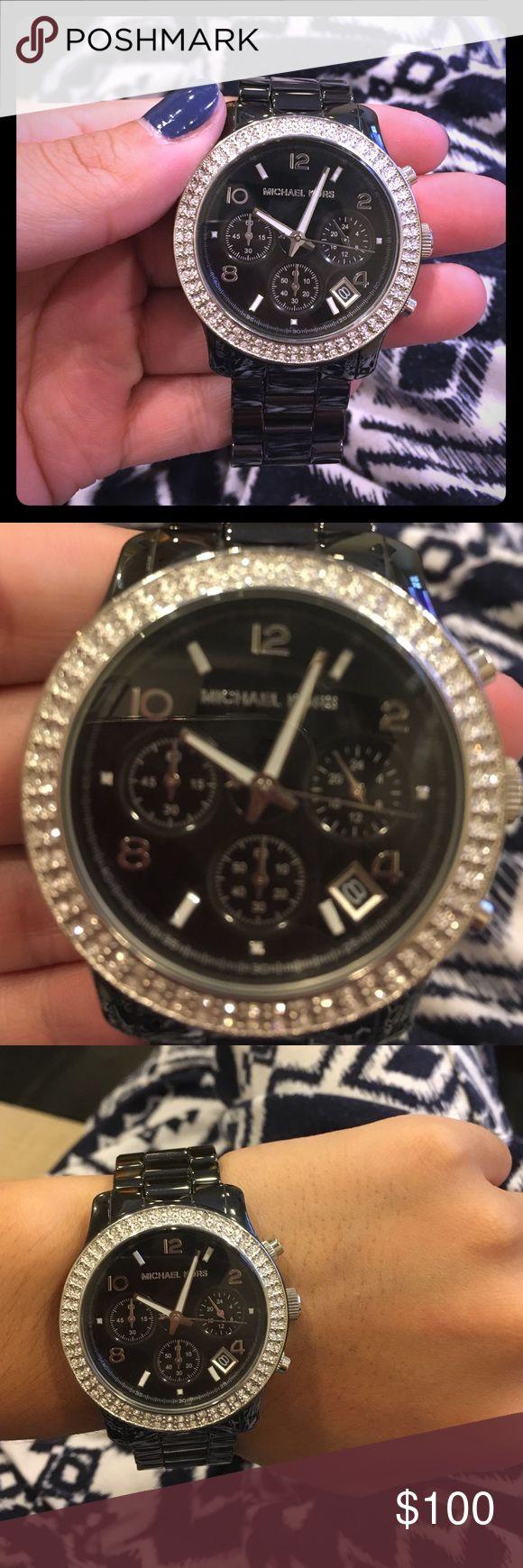 Michael Kors Watch Sleek black Michael Kors watch! Suitable for men or women  Michael Kors Accessories Watches