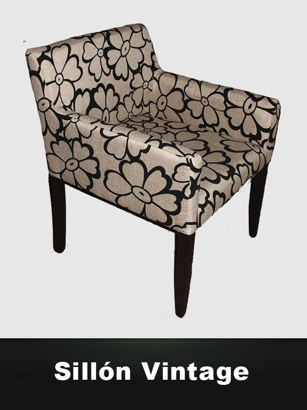 Sillón Vintage, Diseño Retro estampado. Articulo decorativo para el hogar. Escandina.com tu tienda de Muebles de Diseño Moderno  Minimalista.