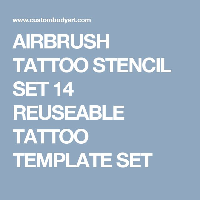 AIRBRUSH TATTOO STENCIL SET 14 REUSEABLE TATTOO TEMPLATE SET