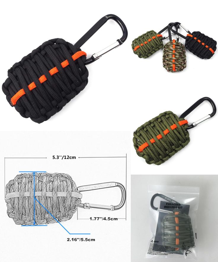 [Visit to Buy] EDC.1991 2017 NEW PSKOOK Outdoor Survival Kit 550 Paracord Weave Survival Grenade  fishing tools key chain with Sharp Eye Knife #Advertisement