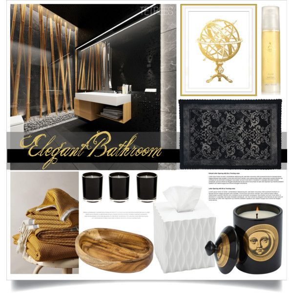 """Elegant Bathroom"" by tetrees on Polyvore 