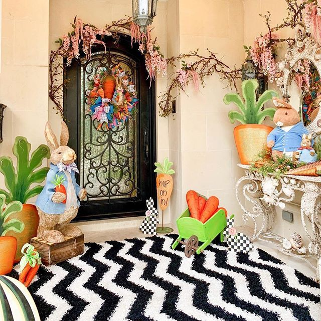 Outdoor Easter Decorations Turtle Creek Lane Easter Decorations Outdoor Easter Front Porch Decor Easter Outdoor Easter decorations for living room