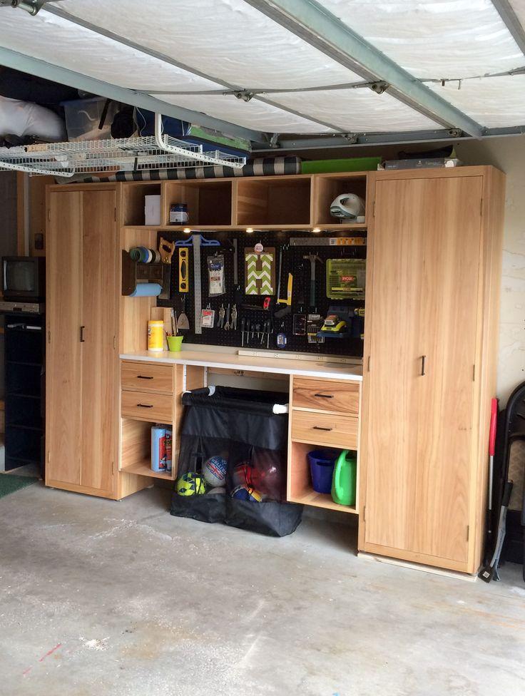 Garage storage wall.
