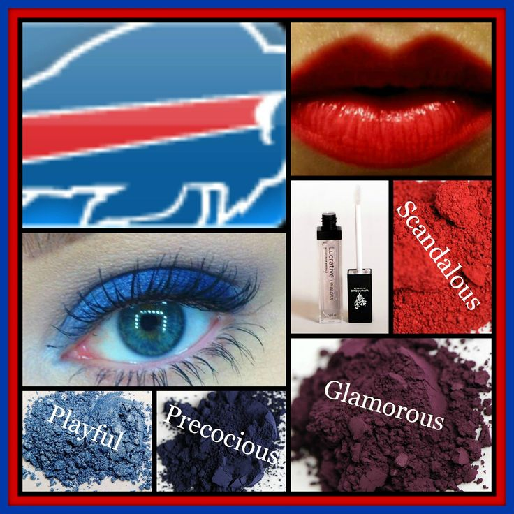20 Best Images About Buffalo Bills Makeup Hair & Nails On
