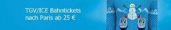 Zugtickets nach Frankreich im Angebot: 10 EUR Gutschein  Winter Tickets nach Paris für 25  30  oder 39  #urlaub #reisen