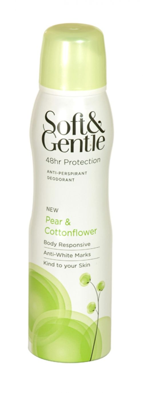 Soft & gentle anti-perspirant deodorant 150ml pear & cottonflower