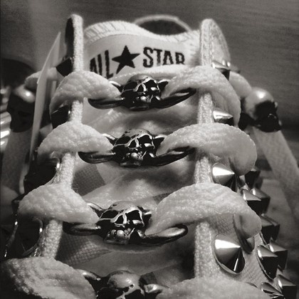 Converse All Star with  Studs and Skulls
