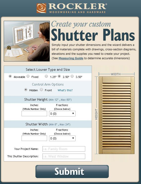 Easily Plan Your Own Custom Shutters And Then Build Them Yourself Free To Use