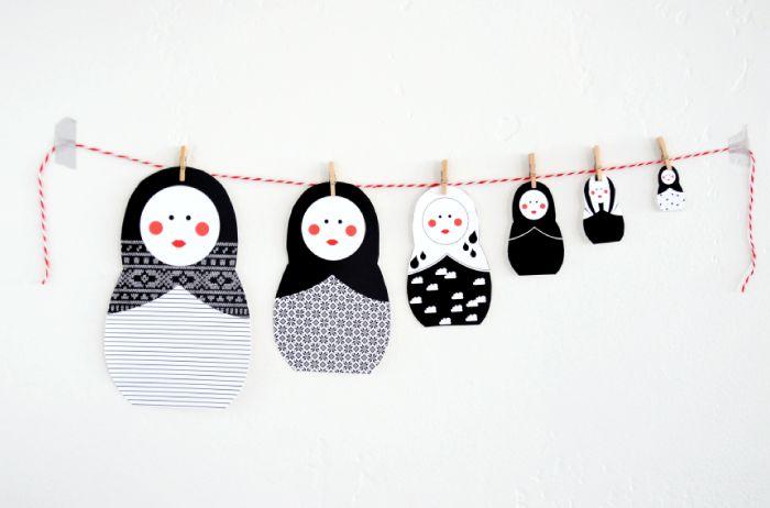 valentine babushka doll printables