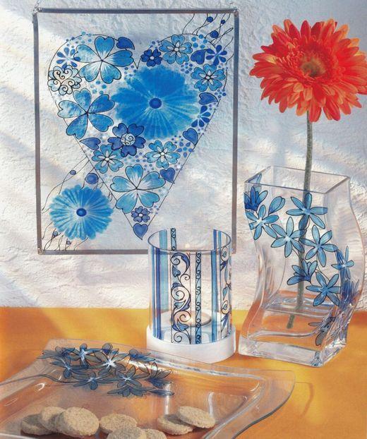 Pictura pe sticla si portelan - model 2