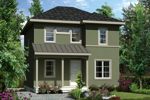 Contemporary Exterior - Front Elevation Plan #25-4502 - Houseplans.com