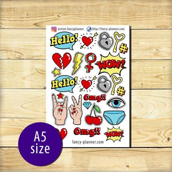 A5-011 Planner cute stickers A5 binder от StoreFancyplanner
