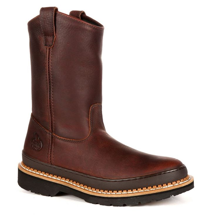 Georgia Boot Giant Men's 9-in. Wellington Work Boots, Size: medium (10.5), Brown