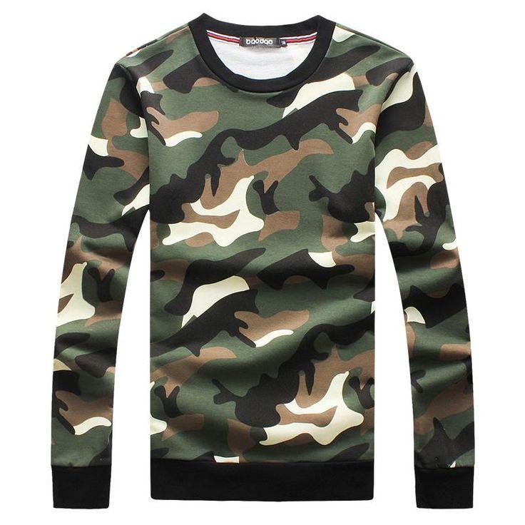 2015 New Arrival Winter Camouflage Hoodie Men Fashion Floral Crewneck Sweatshirt Men M-3XL 4XL 5XL Sudadera Polerones Hombre