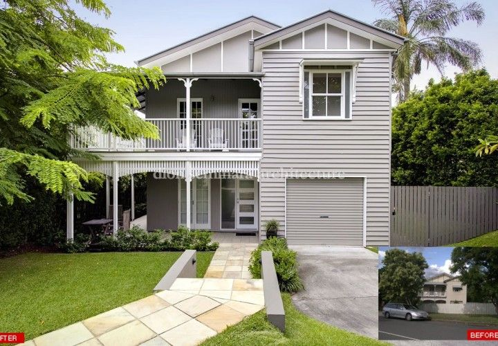 Sympathetic contemporary changes were sought to a previously renovated 1920′s Queenslander in Hawthorne. The purpose of the new design was to enhance liveability and create a more dynamic interior and stronger indoor-outdoor connections.