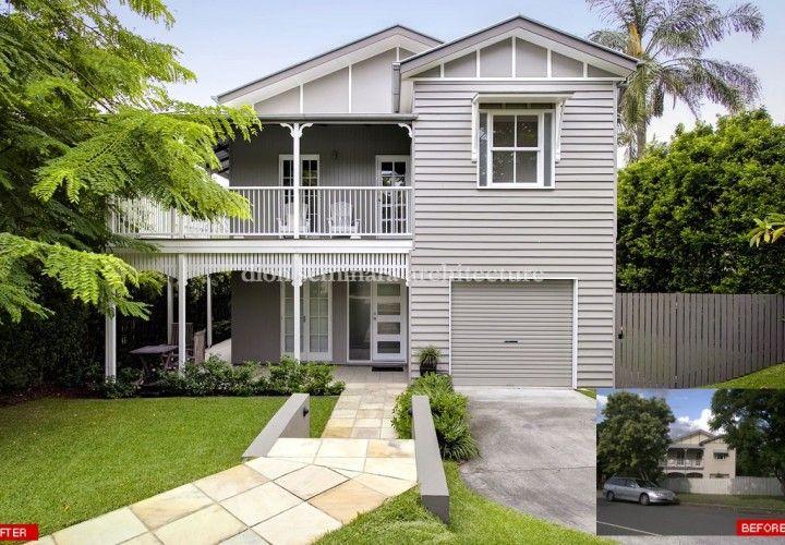 181 best images about external paint colours on pinterest for Queenslander exterior colour schemes
