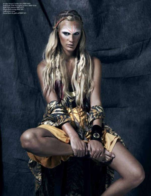 tribal fashion editorials | 28 Imposing Indigenous Editorials - From Tribal Androgyny to ...