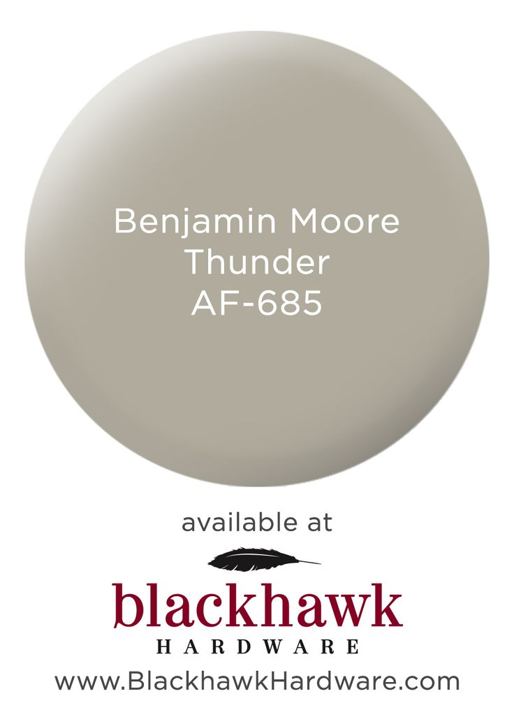 Benjamin Moore Thunder - one of the most versatile interior paint colors                                                                                                                                                      More