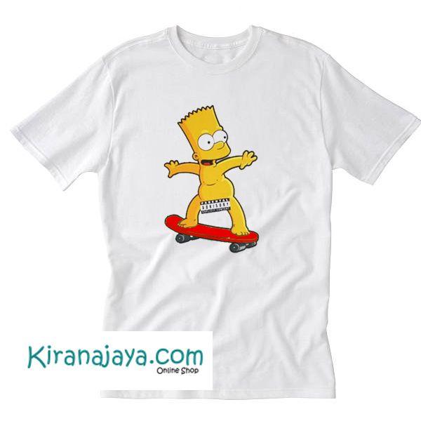 Bart simpson skateboarding naked are not