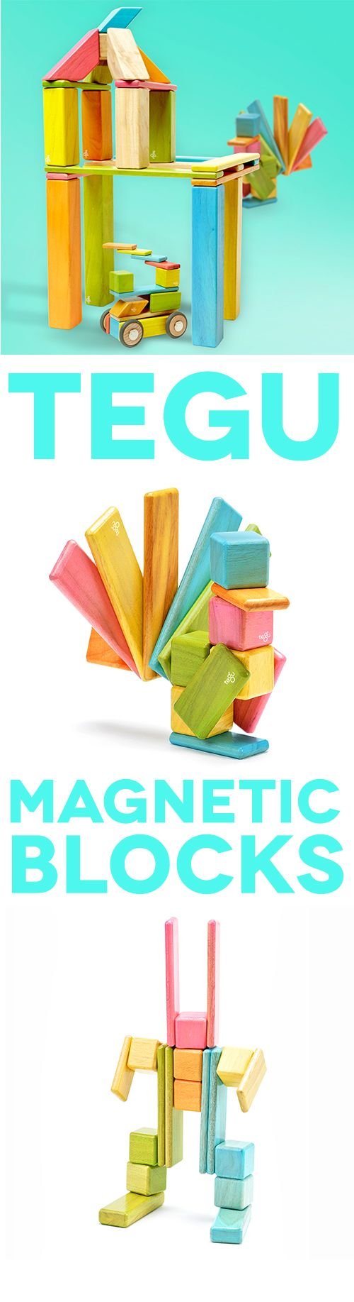 Beautifully crafted magnetized building blocks that defy gravity