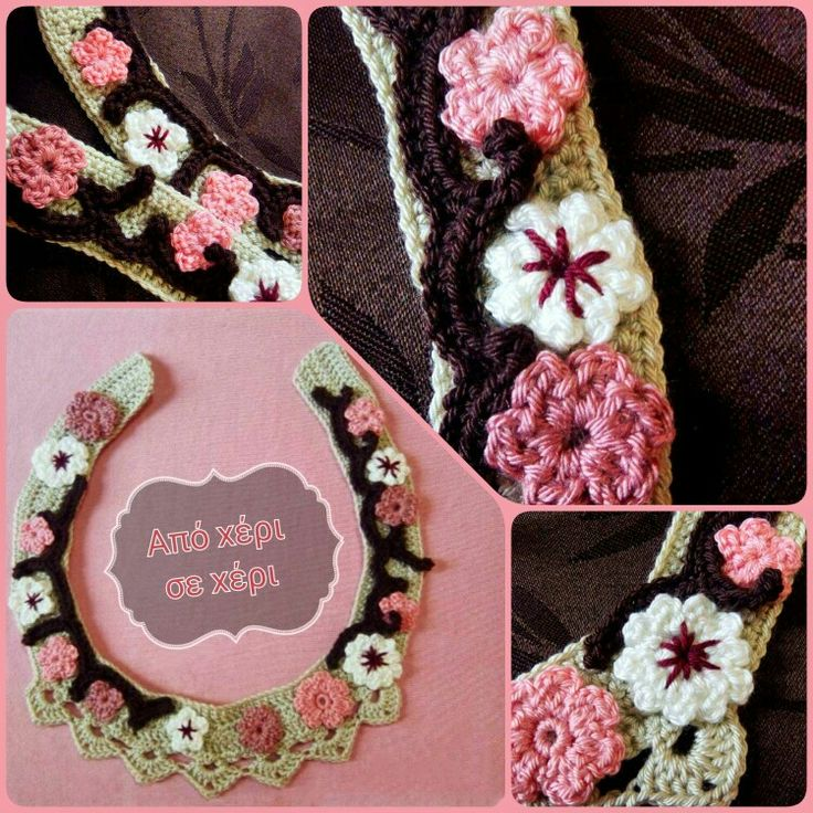 #Θαρρείς κι ο #καιρός,#ανθίζει #αμυγδαλιές ......  ♥  !!!!!!!!!!!#πλεκτό #κόσμημα #απόχέρισεχέρι #crochetjewelry