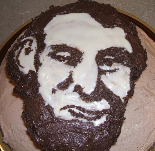I made this cake one year for Abraham Lincoln's birthday :) (and Yes, it's vegan!)