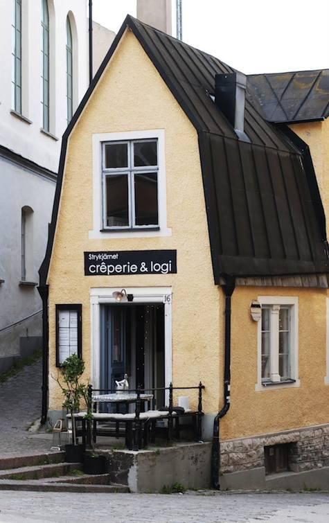 Strykjarnet Creperie & Logi / a creperie and inn all rolled into one on the island of Gotland. Brooklyn needs one of these.