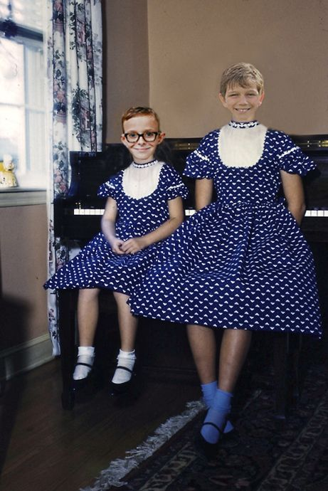 """""""Miss Hartridge found out two brother dressed up for their piano lessons."""" - """"We all are curious, especially in our childhood. That was the thing when they were still at that age. Let your kid see that as a game, explore more of themselves when wanted to play!"""""""