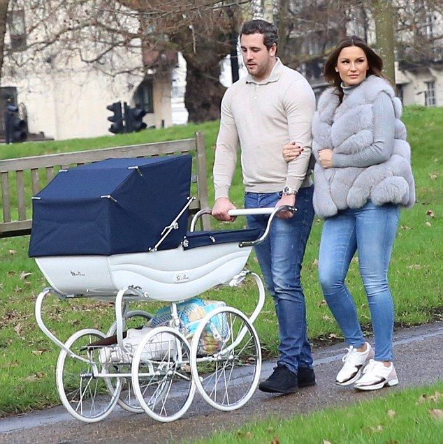 They see me strolling: New mother Sam Faiers and her boyfriend Paul Knightley were spotted...