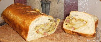 Kuchnia Betti: Faszerowany biały chleb