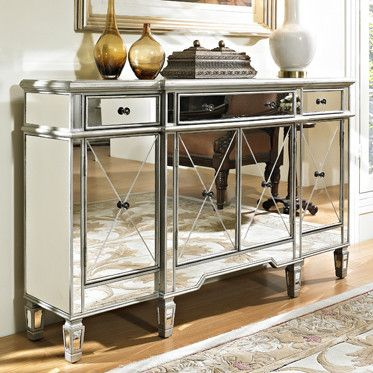 Carnegie Mirrored Console From Huffman Koos