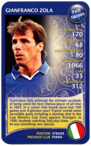 #Gianfranco zola - #chelsea fc - top trumps card #(c102),  View more on the LINK: http://www.zeppy.io/product/gb/2/301875106277/