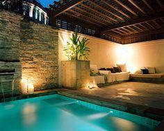 Backyard plunge pool