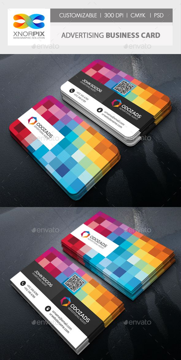 Advertising Agency Business Card — Photoshop PSD #publisher #publicity • Available here → https://graphicriver.net/item/advertising-agency-business-card/17736120?ref=pxcr