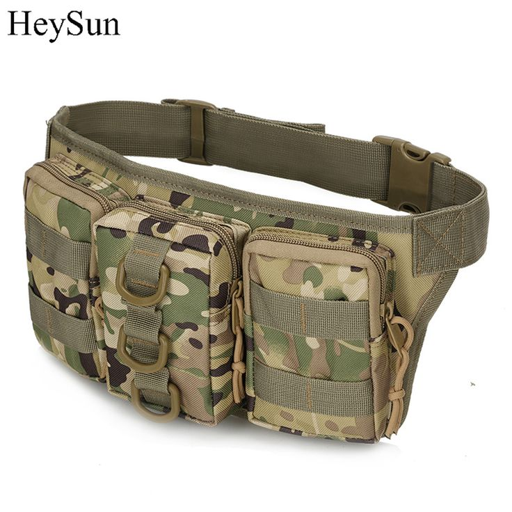 Outdoor Camouflage Military Waist Bag,800D Oxford Waterproof Multi-function Army Molle Bag,5colors Camping Hiking Tactical Pouch